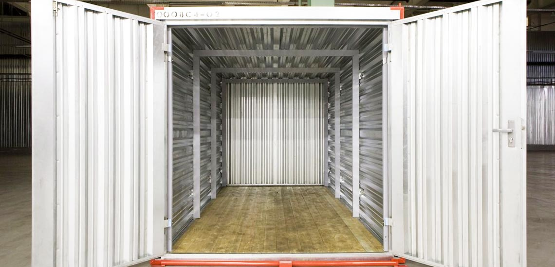 гараж из блок-контейнера