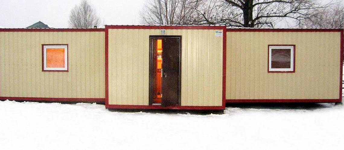 зимний домик из бытовки