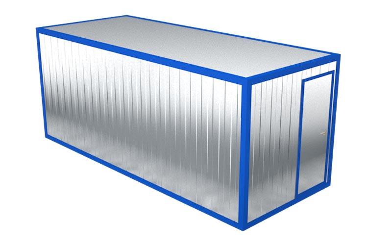 Блок-контейнер БК-001 (вид на дверь)
