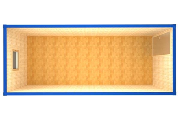 Блок-контейнер БК-001 (вид сверху)