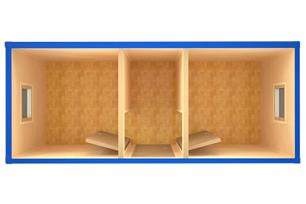 Блок-контейнер БК-007 (вид сверху)