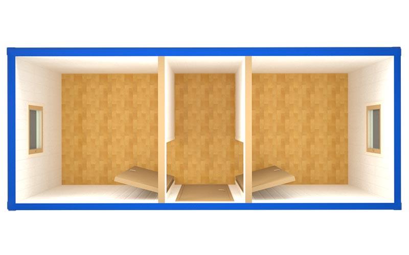 Блок-контейнер БК-009 (вид сверху)