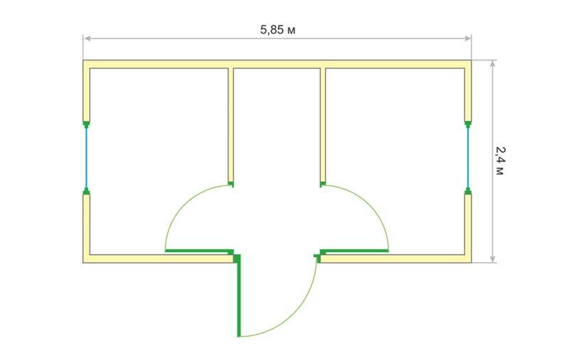 Блок-контейнер БК-008 (чертеж)