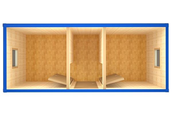 Блок-контейнер БК-10 (вид сверху)