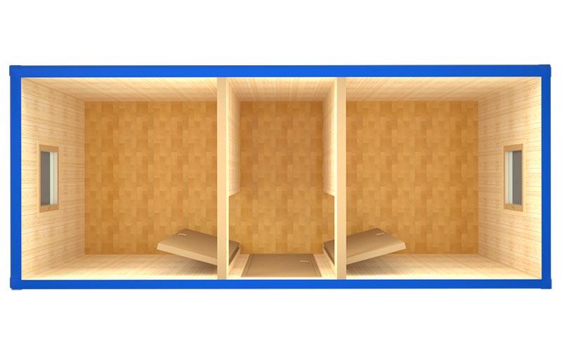 Блок-контейнер БК-008 (вид сверху)