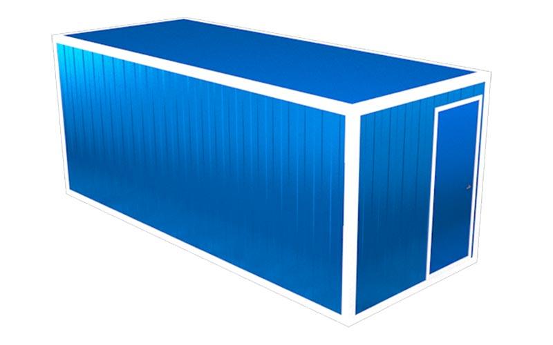 Блок-контейнер БК-08 (вид на дверь)