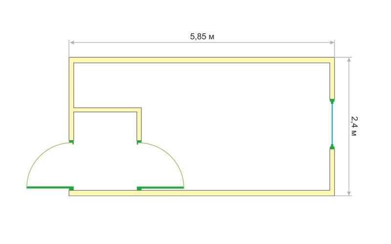 Блок-контейнер БК-004 (чертеж)